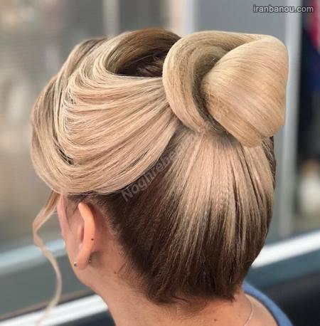 شینیون مو دخترانه