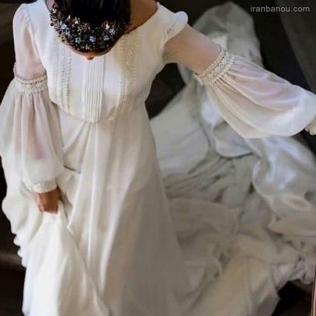 مدل لباس عروس فرمالیته حریر