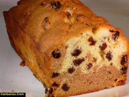 کیک کشمشی بدون شیر