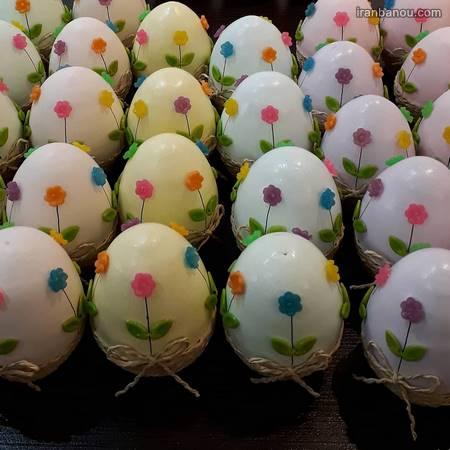 تزیین تخمه مرغ عروس برای سفره هفت سین