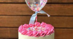 کیک تولد دخترانه ساده