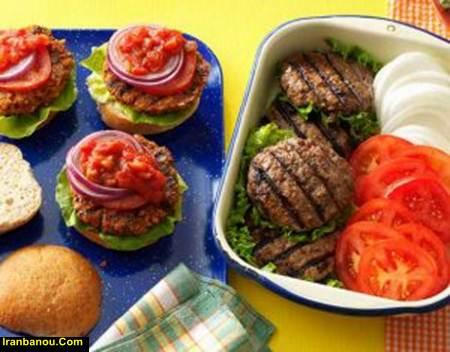 همبرگر خانگی شف طیبه