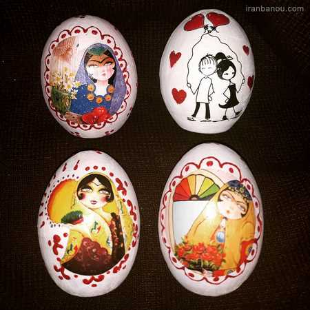 آموزش تزیین تخمه مرغ هفت سین