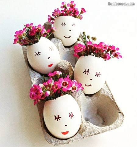 تزیین تخم مرغ شیک