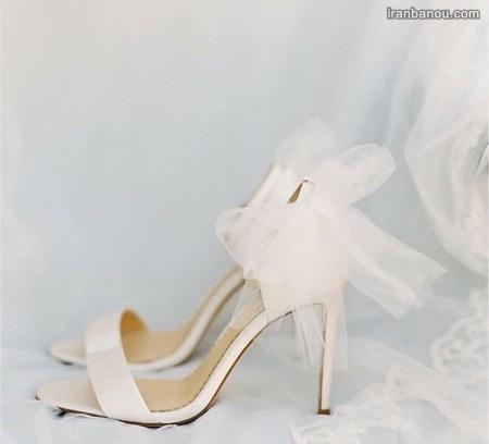 کفش عروس بدون پاشنه جدید