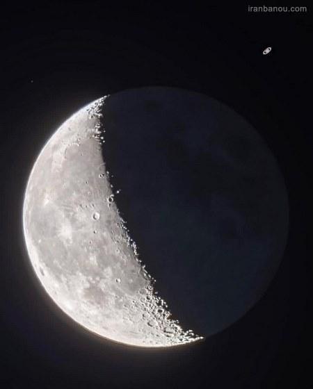عکس ماه و ستاره