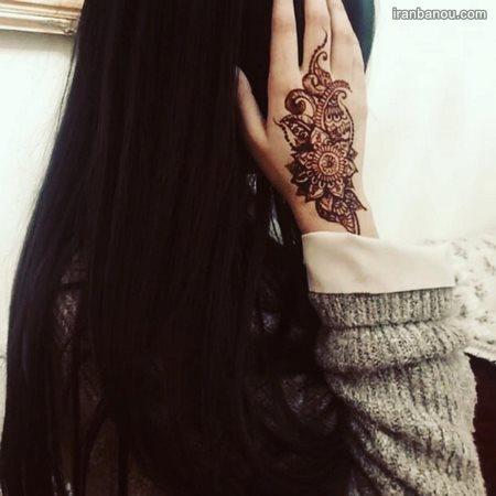 طرح حنا روی ساق دست