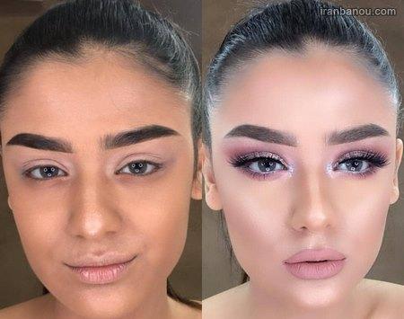قبل و بعد آرایش بازیگران ایرانی