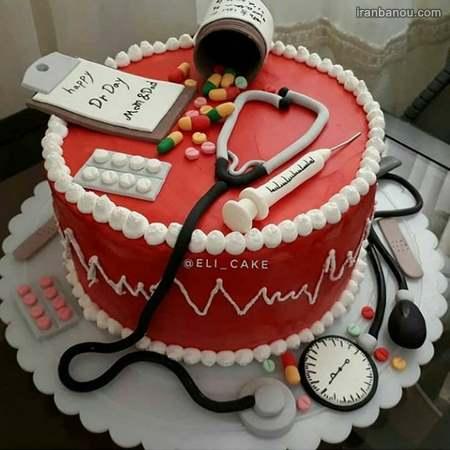 کیک روز پزشک مبارک