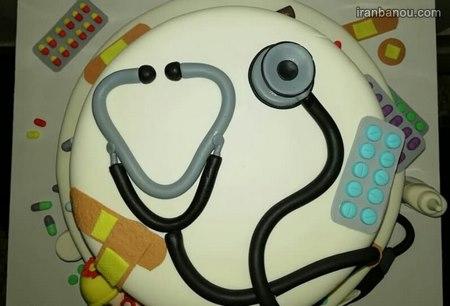 کیک دخترانه پزشکی