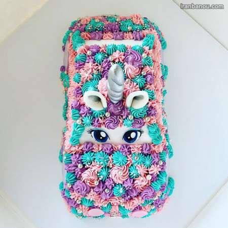 کیک یونیکورن مشکی