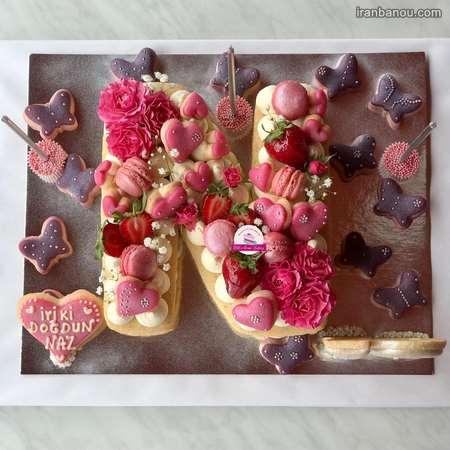 کیک الفبای انگلیسی