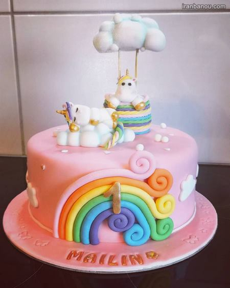 کیک تک شاخ یک طبقه
