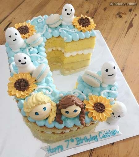 کیک تولد با حرف انگلیسی