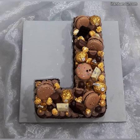 کیک تولد حرف انگلیسی