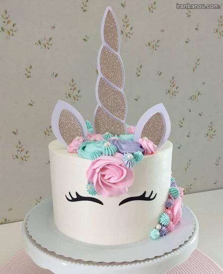 کیک تک شاخ تولد