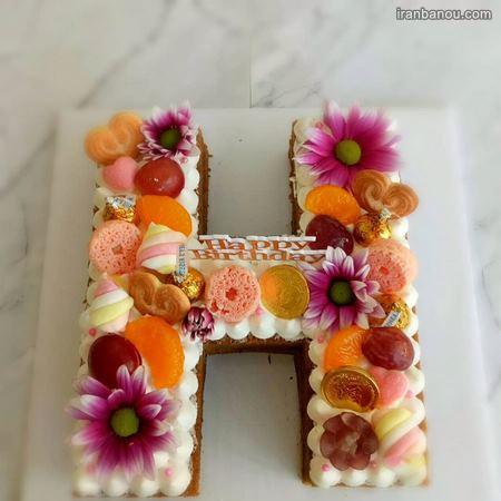 تزیین کیک تولد به شکل حروف انگلیسی