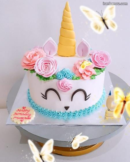 کیک تک شاخ خامه ای