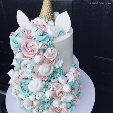 کیک تک شاخ دخترانه