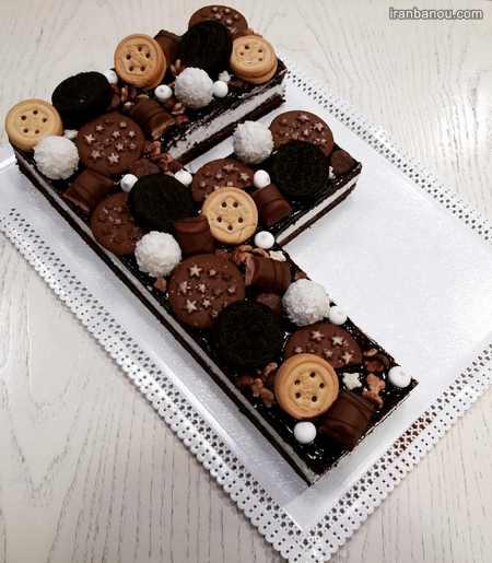 کیک تولد حروف انگلیسی