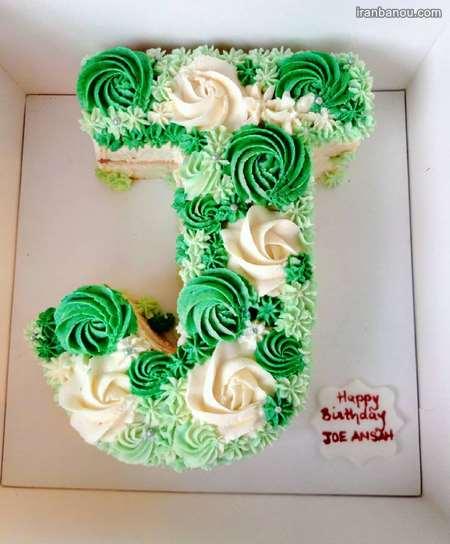 کیک تولد الفبای انگلیسی