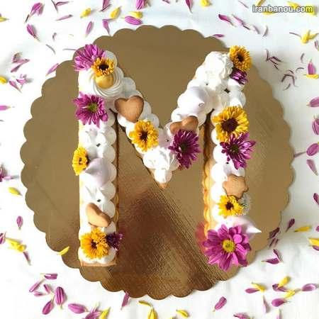 الگوی حروف انگلیسی برای کیک