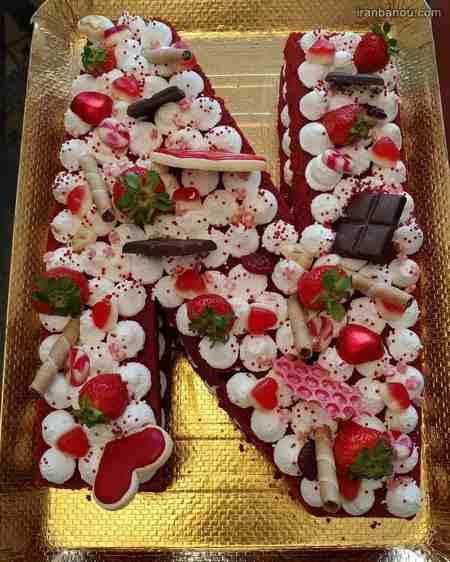 کیک حروف الفبای انگلیسی