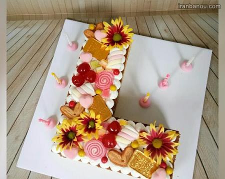 حروف انگلیسی برای کیک