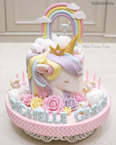 کیک اسب شاخدار دخترانه