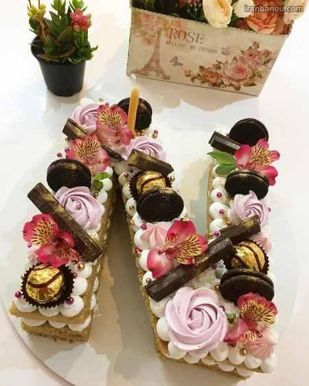 کیک جشن الفبای انگلیسی
