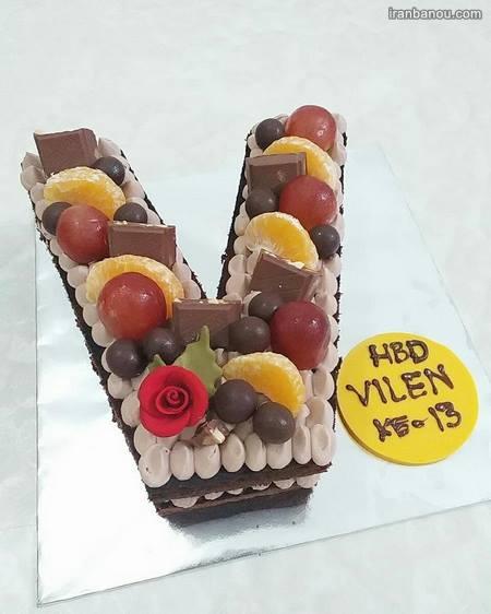 تزیین کیک به شکل حروف انگلیسی