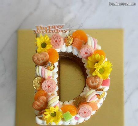تزیین کیک حروف انگلیسی