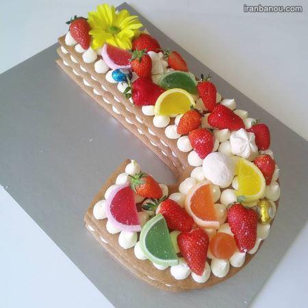کیک الفبای فارسی