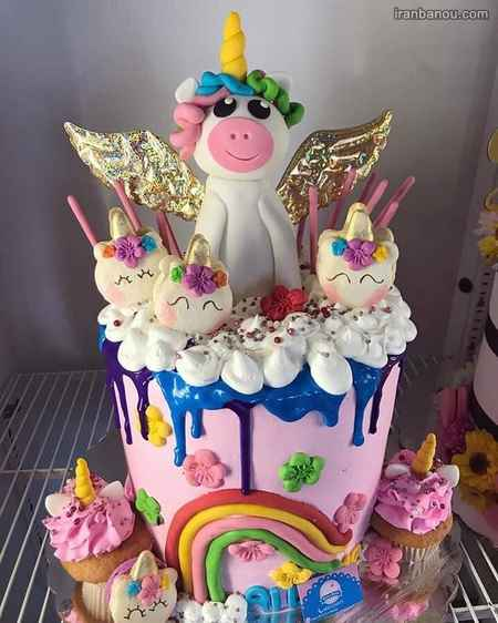 مدل کیک یونیکورن