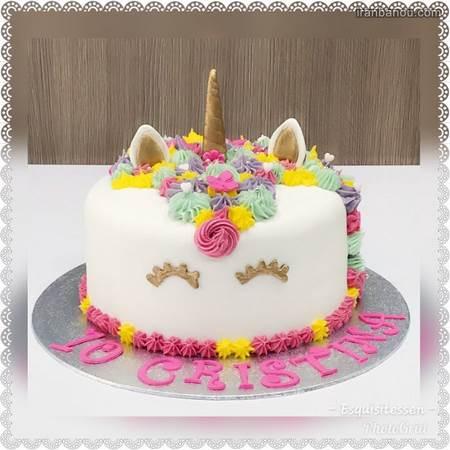 کیک یونیکورن خامه ای
