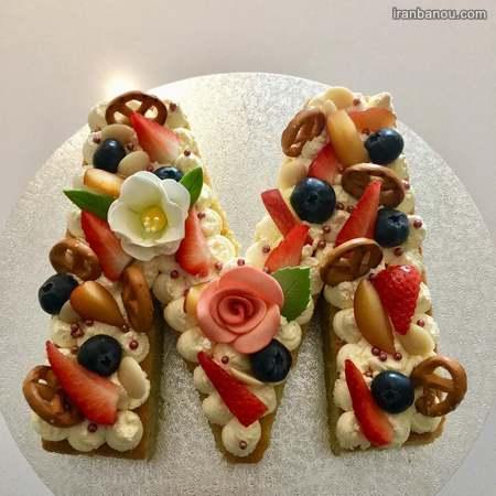 تزیین کیک حروف الفبا