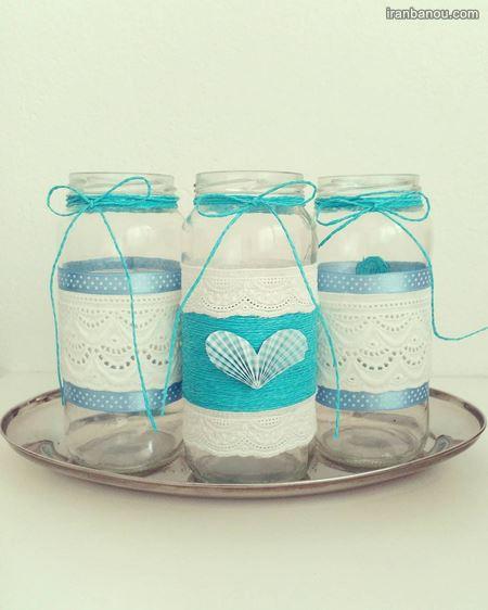 تزیین شیشه مربا با ایده های خلاقانه بیا تو صفا