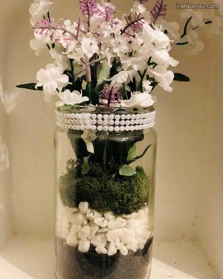 تزیین شیشه حبوبات عروس