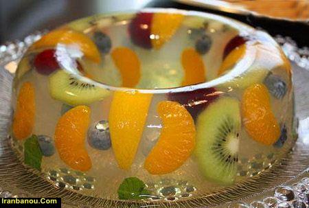 آموزش ژله ویترینی با میوه