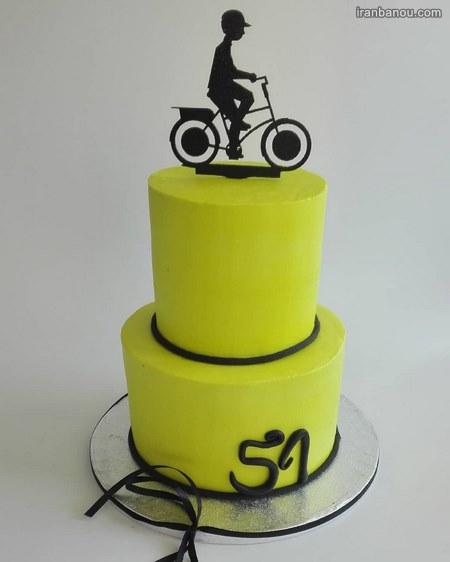 کیک تولد مردانه با خامه