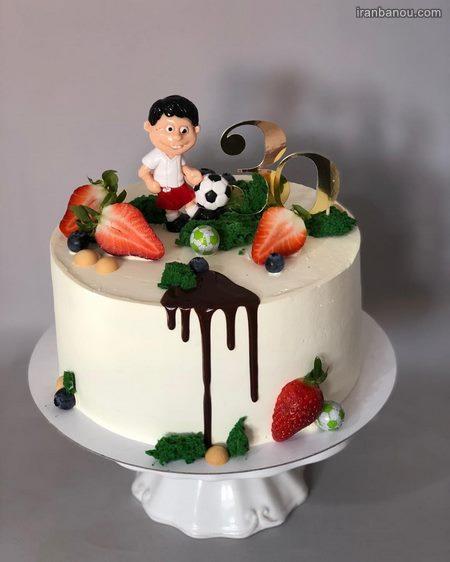 کیک تولد آرایشگر مردانه