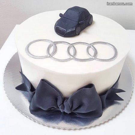 عکس کیک تولد عاشقانه فانتزی