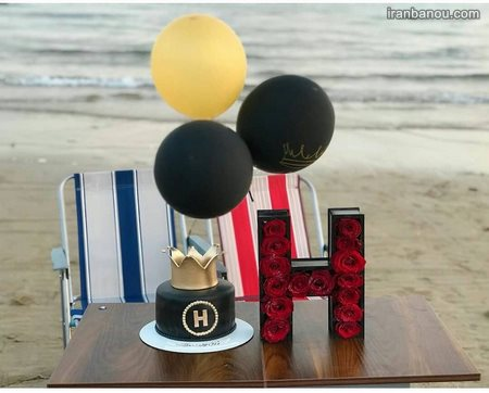 عکس کیک تولد عاشقانه برای همسر