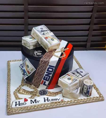 کیک تولد دونفره عاشقانه