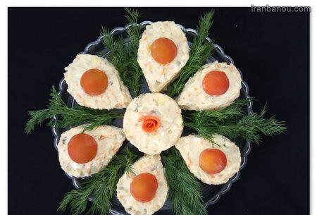تزیین سالاد الویه برای مهمانیها
