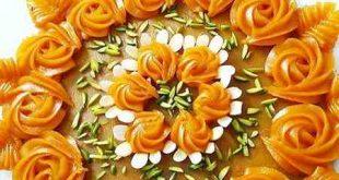 حلوا هویج با نشاسته