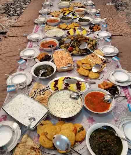 سفره افطار سنتی