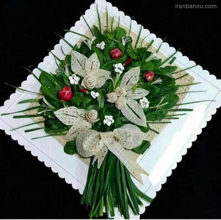 کیک پنیر و سبزی و گردو