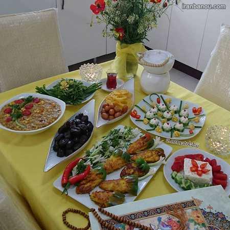سفره افطاری حرم امام رضا