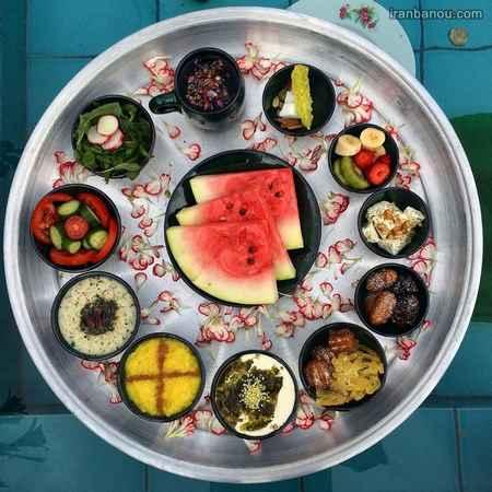 تزیین سفره افطاری سنتی